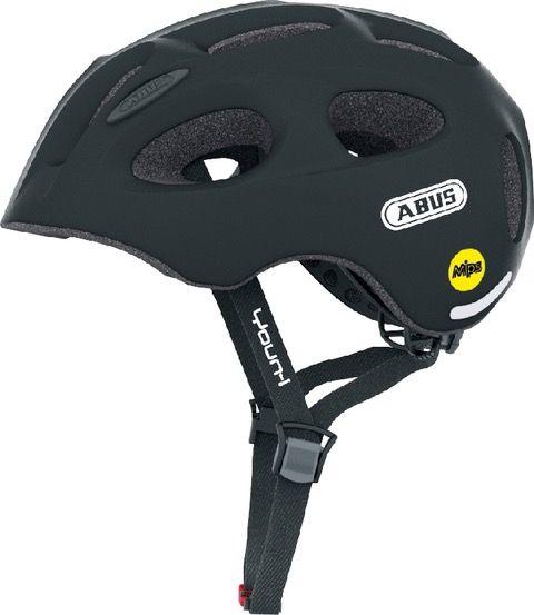 Flot Abus Youn-I MIPS cykelhjelm til børn - Velvet black - Sikker LQ-15