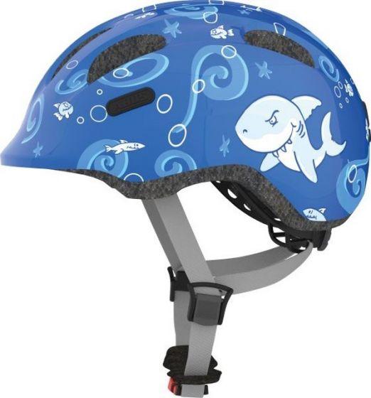 Abus Smiley 2.0 cykelhjelm til børn - Blue sharky