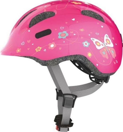 Abus Smiley 2.0 cykelhjelm til børn - Pink butterflies