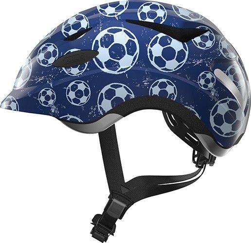 Abus Anuky cykelhjelm til børn med lys - Blue soccer
