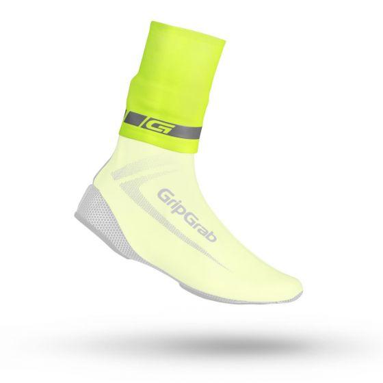 GripGrab CyclinGaiter Rainy Weather Ankle Cuff manchet til skoovertræk - Hi-Vis