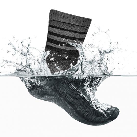 GripGrab Waterproof Merino Thermal Sock cykelstrømpe - Sort/grå