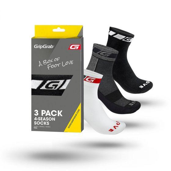 GripGrab All-season Socks 3-pak - Flere farver