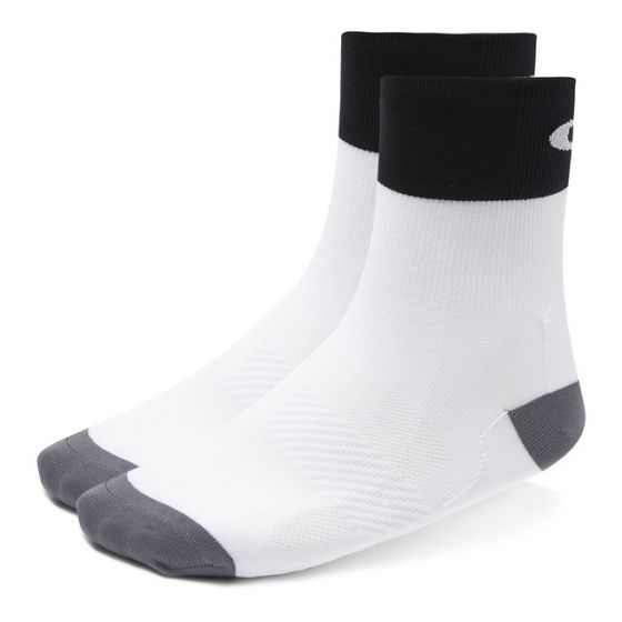 Oakley cycling regular sock cykelstrømpe unisex - White