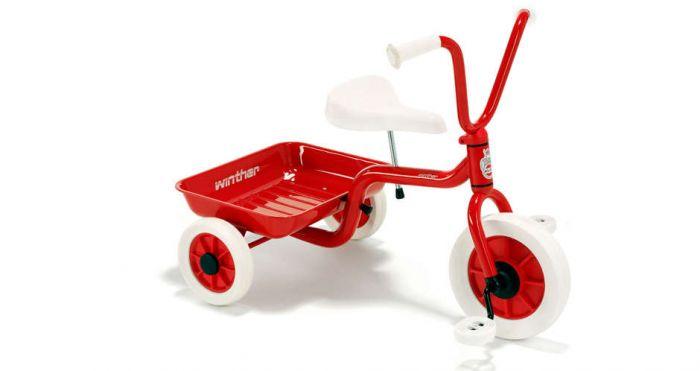 Winther trehjulet cykel - Rød/hvid