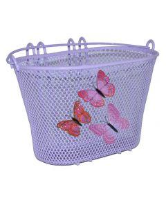 Basil Jasmin front cykelkurv til børn - Lilla sommerfugl