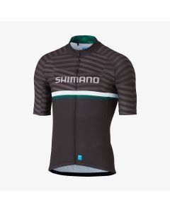 Shimano Cykeltrøje TEAM SS - Sort/grøn