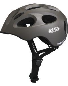 Abus Youn-I cykelhjelm til børn med lys - Metallic grey