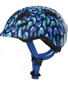 Abus Smiley 2.0 cykelhjelm til børn - Blue car
