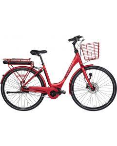 Winther Superbe 2 Red Dame Elcykel - Mat rød