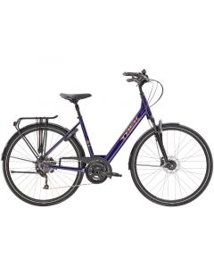 Trek Verve 3 Equipped Lowstep dame cykel - Farve/Purple Abyss
