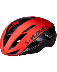 Specialized S-Works Evade with ANGi cykelhjelm - Rocket Red/Crimson/Black