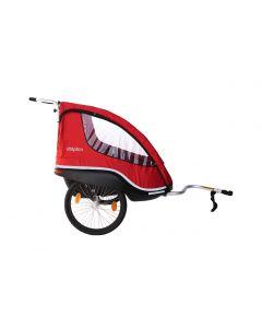 Winther Dolphin XL med dobbelt bremse og Weber kobling - Rød
