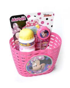 Disney Kombipakke Minnie Mouse cykelKurv, Flaske og klokke