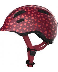 Abus Smiley 2.0 cykelhjelm til børn - Cherry heart