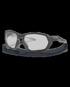 Oakley Plazma Matte Carbon solbriller - Clear to black iridium photochromic