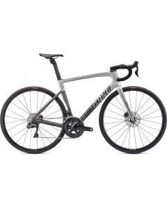 Specialized Tarmac SL7 Expert - Ultegra Di2 landevejscykel - Light Silver/Smoke Fade/Black