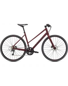 Specialized Sirrus 3.0 Step Through dame cykel - Satin Maroon/Gloss Maroon/ Satin Black Reflective