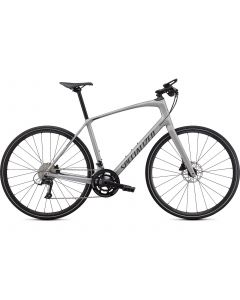 Specialized Sirrus 4.0 Carbon - Satin Flake Silver / Charcoal / Black Reflective