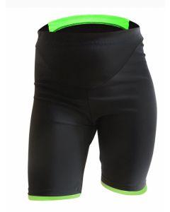Q36.5 kort cykelbuks til børn med skind - Sort