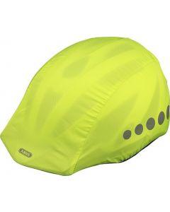 Abus regnovertræk til cykelhjelm - Neon gul