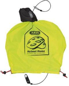 Abus Helmet home - Lås og regnovertræk til cykelhjelm - Gul
