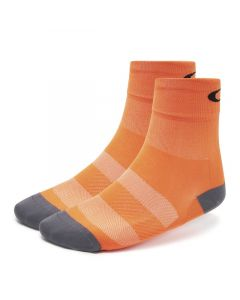 Oakley cycling regular sock cykelstrømpe unisex - Neon orange