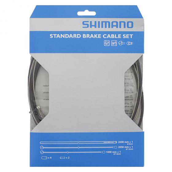 Shimano Bremsekabel sæt - Sort Dobbelt Nippler