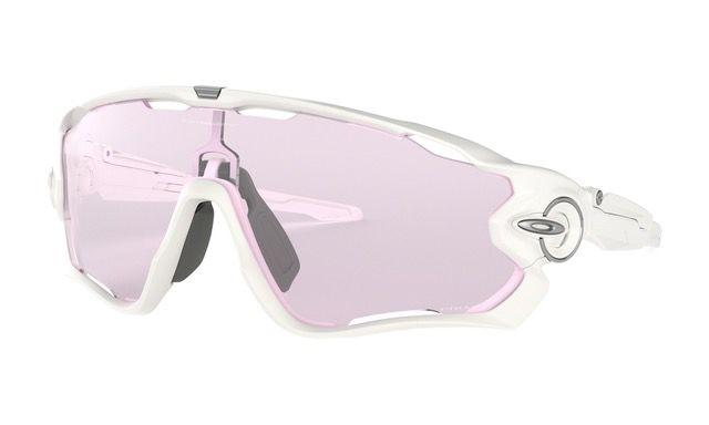Oakley Jawbreaker sportsbriller - Polished white/prizm low light