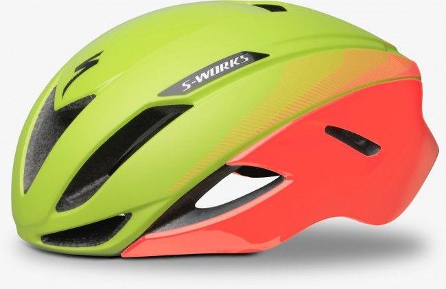 Specialized S-Works NEW Evade cykelhjelm - Hyper Green/Acid Lava LTD-Small