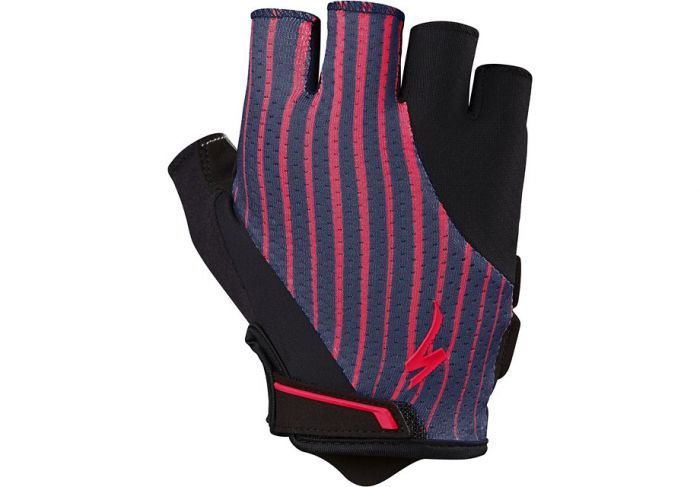 Specialized Women's Body Geometry Gel Gloves cykelhandske til damer - Acid Red/Line Fade