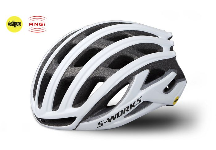 Specialized S-Works Prevail II cykelhjelm med ANGi og MIPS - Matte White