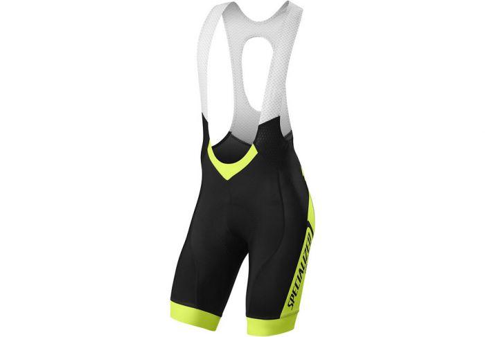 Specialized SL Pro Bib Shorts cykelbuks med seler - Sort m. gul