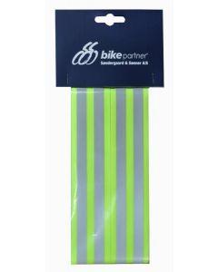 BikePartner Refleksbånd til bukseben med velcro - Neon gul
