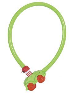 Abus wire cykellås til børn - Grøn
