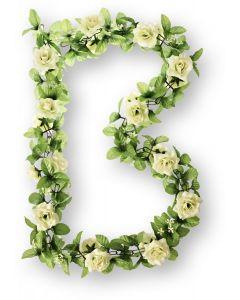 Basil Blomsterranke til cykelkurv - Hvid rose