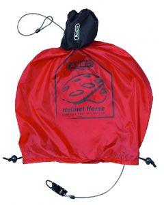 Abus Helmet home - Lås og regnovertræk til cykelhjelm - Rød