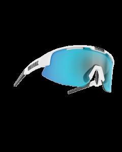 Bliz Matrix solbriller til sport - White frame/Smoke with blue multi lens