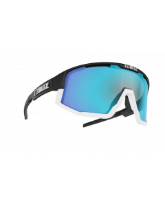 Bliz Active Fusion sportsbriller - Black frame/White Jawbone Smoke with blue multi lens