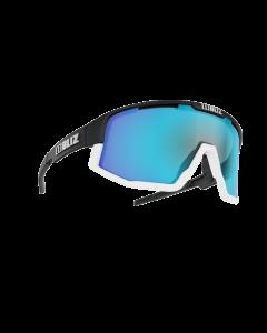 Bliz Active Fusion sportsbriller - Black frame/White Jawbone Smoke with blue multi lens