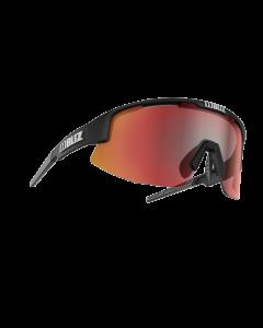 Bliz Matrix solbriller til sport - Black frame/Smoke Brown with red multi lens