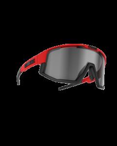 Bliz Active Fusion sportsbriller - Red frame/Black Jawbone Smoke w silver mirror lens