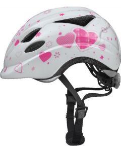 Abus Anuky cykelhjelm til børn med lys - White heart