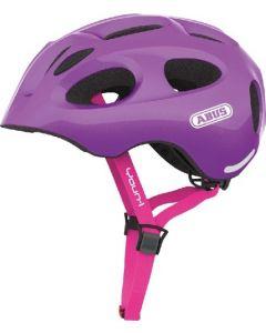 Abus Youn-I cykelhjelm til børn med lys - Sparkling purple