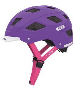 Abus Hyban cykelhjelm med lygte - Dame - Brilliant Purple