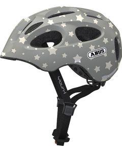 Abus Youn-I cykelhjelm til børn med lys - Grey star
