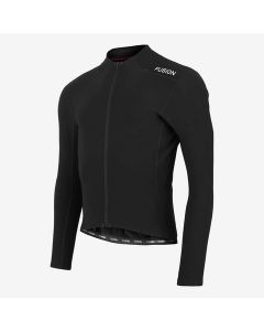 Fusion Hot LS Cycling Jersey cykeltrøje - Sort