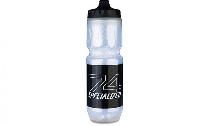 Specialized Purist Insulated Fixy Water Bottle 23 OZ - Translucent/Black 74-Logo