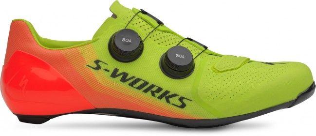 Specialized S-Works 7 road cykelsko - Hyper Green/Acid Lava LTD