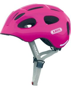 Abus Youn-I cykelhjelm til børn med lys - Sparkling pink